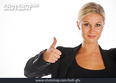 Business Woman, Thumbs Up, Consent