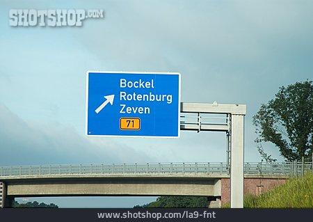 Road Sign, Highway Exit
