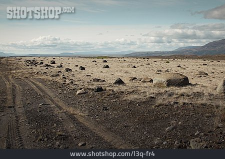 Iceland, Steppe, Tire Track