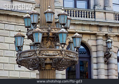 Ancient, Street Lamp, Palatial