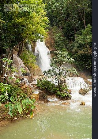 Waterfall, Luang Prabang, Kuang Si Waterfall