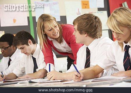 Explaining, Class, Teacher, School Class