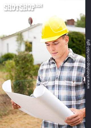 Construction Worker, Construction Manager, Blueprint, Construction