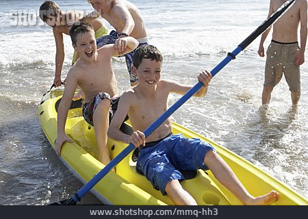 Boy, Kayak