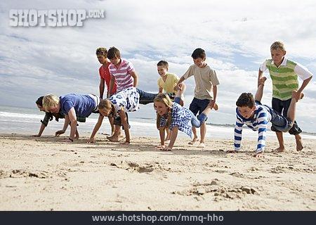 Children Group, Competition, Wheelbarrow