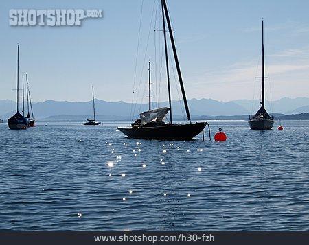 Lake, Sailboat, Lake Starnberg