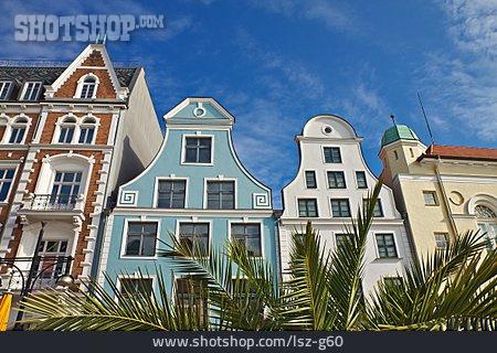 Gable, Rostock, Giebelhaus, Row Of Houses, Kröpeliner Straße