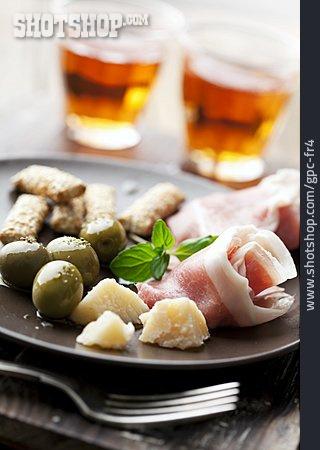 Ham, Olives, Italian Cuisine, Antipasto