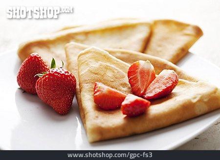 Strawberries, Pancakes, Crêpe