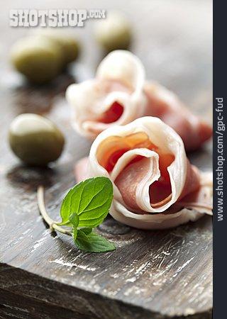 Antipasto, Ham Rolls, Serrano Ham