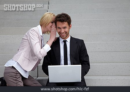 Secret, Business Person, Whispering, Colleagues