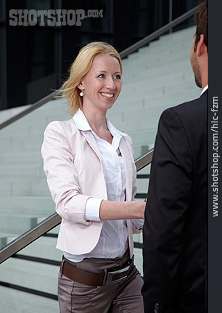 Business Woman, Business Person, Greeting