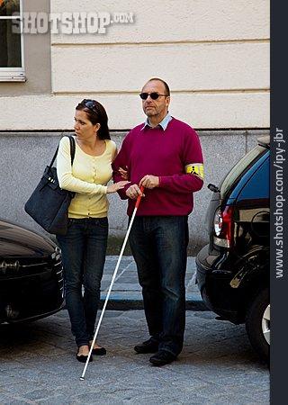 Helpfulness, Road Crossing, Blind