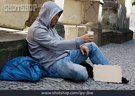 Social Issues, Begging, Homeless Man