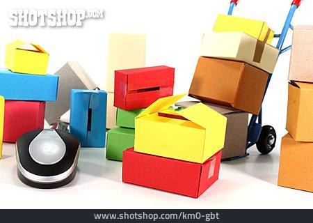 Carton, Packet, Online Shopping