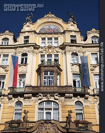 House, Art Nouveau, Prague Old Town Square