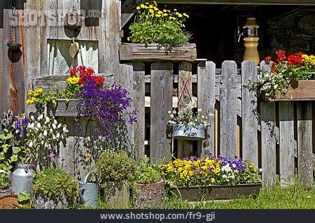 Fence, Mountain Lodge, Rustic, Flower Arrangements