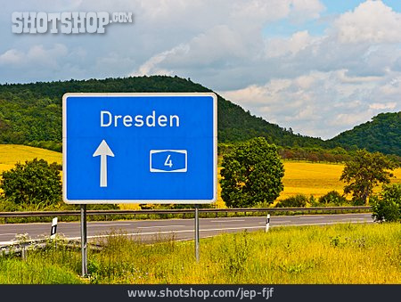 Dresden, Road Sign