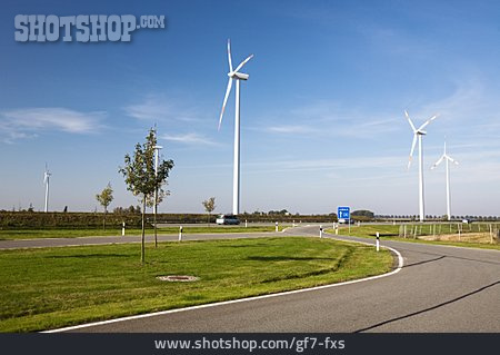 Pinwheel, Wind Turbine, Infrastructure, Highway Ramp, A 20