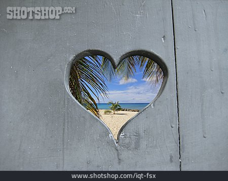 Beach, Heart, Summer Vacation