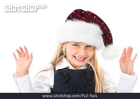 Girl, Santa Hat, Christmas' Child