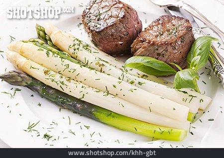 Beef Steak, Asparagus