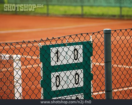 Scoreboard, Tennis Court