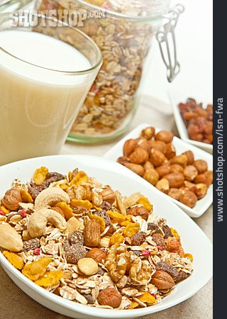 Milk, Breakfast, Cereal
