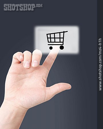 Purchase & Shopping, Shopping Cart, Touchpad