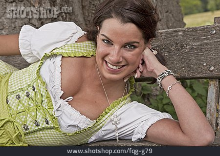 Young Woman, Dirndl, National Costume