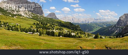 South Tyrol, Val Badia, Alps Panorama