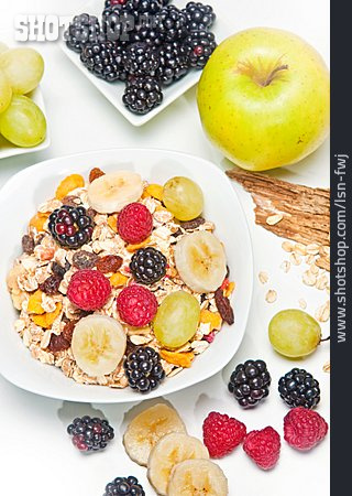 Fruits, Breakfast, Cereal