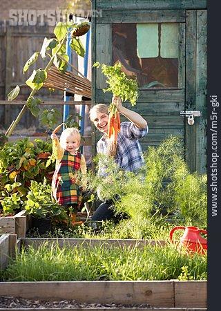 Mother, Pride, Gardening, Harvest, Daughter