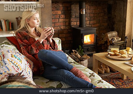 Young Woman, Domestic Life, Comfortable