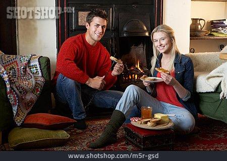 Eating, Romantic, Love Couple