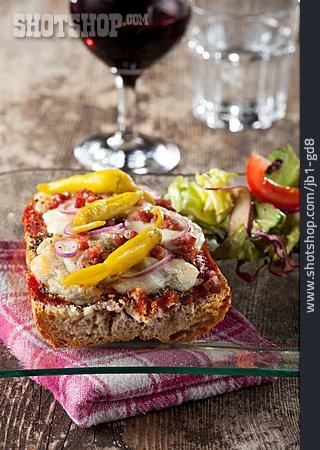 Baguette, Gratin, Snack, Sandwich