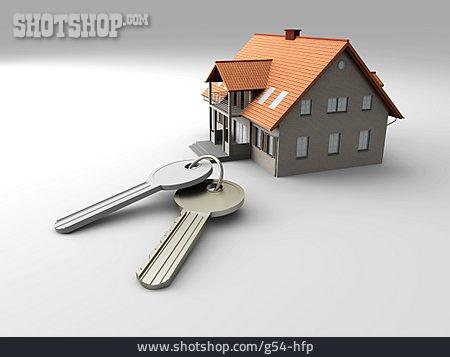 House, Property, Buying House, House Key
