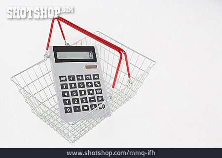 Calculator, Shopping Cart, Household Budget, Cost Of Living, Living Account