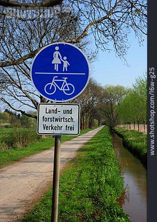 Traffic Sign, Pedestrian, Bicycle Lane, Walk