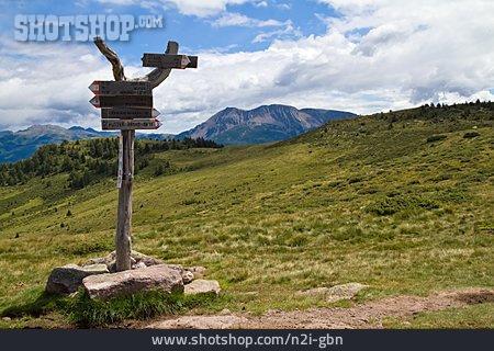 Trail, Footpath Sign, South Tyrol