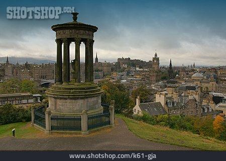 Scotland, Edinburgh, Dugald Stewart Monument