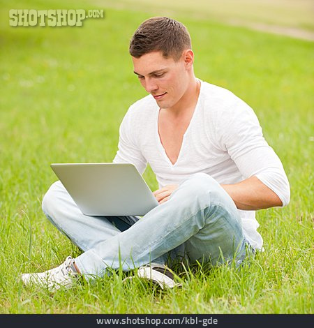 Young Man, Mobile Communication, Surfing