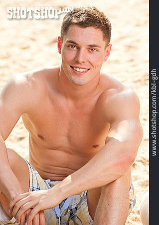 Young Man, Beach Holiday