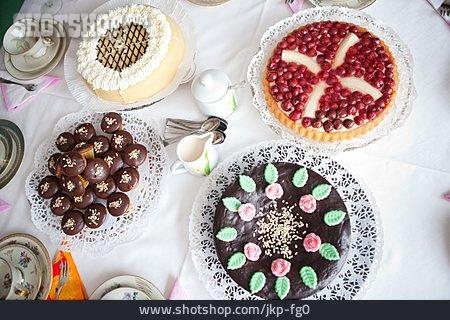 Dessert, Cake, Coffee Set