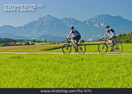 On The Move, Cyclists, Cycling, Mountain Biker, Berchtesgadener Land
