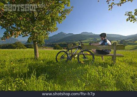Cyclists, Mountain Biker, Rest