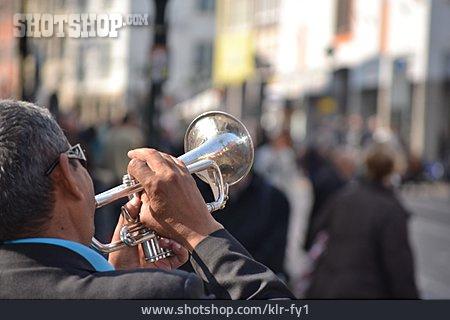 Street Busker, Street Musician, Trumpeter