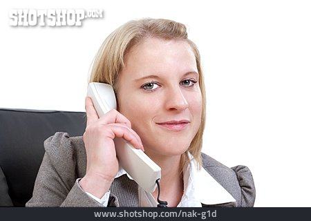 Telephone, On The Phone, Office Worker