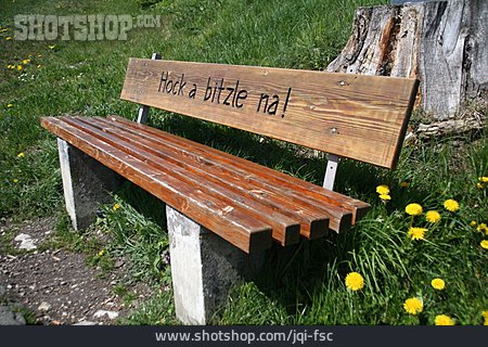 Relaxation & Recreation, Wooden Bench, Hock A Bitzle Na