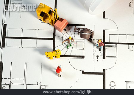 Construction Site, Floorplan, Worker, Construction Manager